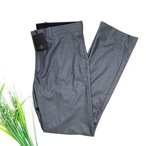 7 diamonds Men's Modena Gray Dress Pant Slacks
